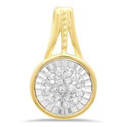 14k Gold 0.07CTW Diamond Pendant, (I1-I2/G-H)
