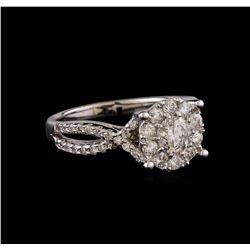1.35 ctw Diamond Ring - 14KT White Gold