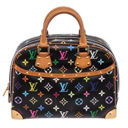 Louis Vuitton Black Multicolore Canvas Leather Trouville Bag