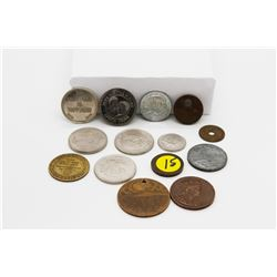 Set of 14 Misc Coins/Medallions