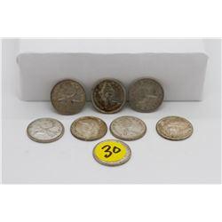 Set of 80 - 1966 and older Canadian quarters