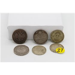 Set of 6 Russian &  Ukrainian Coins