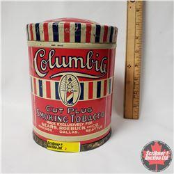 """Columbia Cut Plug Smoking Tobacco Tin (6"""" x 5"""")"""