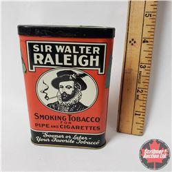"""Sir Walter Raleigh Smoking Tobacco Pocket Tin (4"""" x 3"""")"""