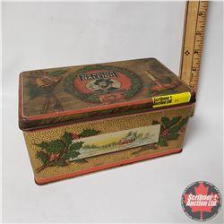 "Sir Walter Raleigh Holiday Tobacco Tin (3-1/2"" x 7"" x 4.5"")"
