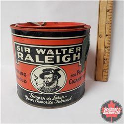 """Sir Walter Raleigh Smoking Tobacco Tin (5"""" x 5"""")"""