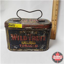 "Bagley's Wild Fruit Flake Cut Tobacco Lunch Box Tin (4"" x 7"" x 4"")"