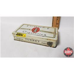 "Ogden's Liverpool TURRET Cigarettes Tin  - 50 Cigarettes (1"" x 5-1/2"" x 3"")"