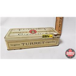 "Ogden's Liverpool TURRET Cigarettes Tin  - 100 Cigarettes (1-1/2"" x 6-1/2"" x 3"")"