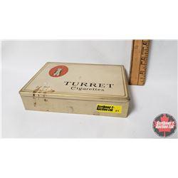 "Ogden's Liverpool TURRET Cigarettes Tin  - 100 Cigarettes (1"" x 6"" x 4-1/2"")"