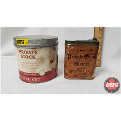 "Collector Combo (2) : Straus Bros. & Co. Private Stock Mixture Pocket Tin (4"" x 3"") Paper Label & Pr"