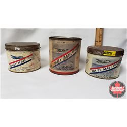 "Collector Combo (3) : Daily Mail Tobacco Tin 65¢ Wartime Package (3"" x 4"") & Daily Mail Tobacco Tin"