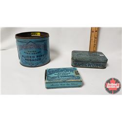 """Collector Combo (3) : Edgeworth Extra High Grade Sliced Pipe Tobacco (Cardboard Box/Package) (3-1/4"""""""