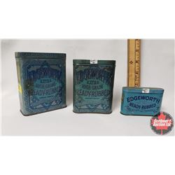 "Collectors Combo (3) : Edgeworth Extra High Grade Ready-Rubbed Smoking Tobacco Tin (4-1/4"" x 3-1/2"""