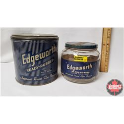 Collector Combo (2) : Edgeworth Ready-Rubbed Extra High Grade America's Finest Pipe Tobacco Jar (4""