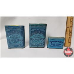"Collectors Combo (3) : Edgeworth Extra High Grade Ready-Rubbed Smoking Tobacco Pocket Tin (4-1/4"" x"