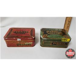 "Collector Combo (2) : Hickey's Perique Mixture Tin (5"" x 3-1/2"" x 2"") & Hickey and Nicholson Tobacco"