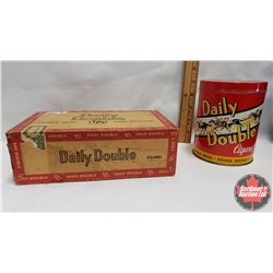 "Collector Combo (2) : Daily Double Cigar Box (9"" x 5"" x 3"") & Daily Double Cigars Tin ""Double Value"""