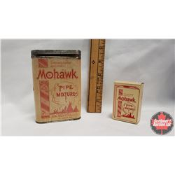 """Collector Combo (2) : Mohawk Pipe Mixture Tin (4-1/2"""" x 3"""") & Mohawk Pipe Mixture Box (2-1/2"""" x 1-1/"""