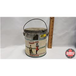 """Good Old Summer-Time Long Cut Tobacco Pail (Paper Label) (6"""" x 5"""")"""
