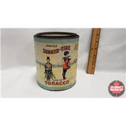 """Good Old Summer-Time Long Cut Tobacco Tin (Paper Label) (6"""" x 5"""")"""