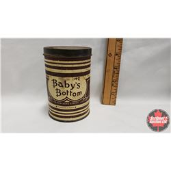 """""""Nothing Smoother Than Baby's Bottom"""" Savory's Tobacco Tin (Paper Label) (4-1/4"""" x 3"""")"""