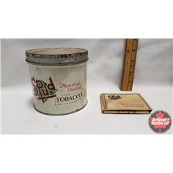"""Collector Combo (2) : Spud Menthol Cooled Fine Cut Tobacco for Cigarettes Tin (4-1/4"""" x 4-1/4"""") & Sp"""