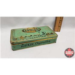 "Dixie Cigarettes Tin (5-1/2"" x 1"" x 3"") (Vintage ephemera & Stim-U-Dents Package inside tin)"