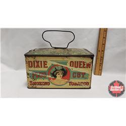 """Dixie Queen Plug Cut Smoking Tobacco Lunch Box Tin (4"""" x 5"""" x 7-1/2"""")"""