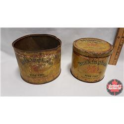 "Collector Combo (2) : Buckingham Fine Cut Philip Morris & Co. Limited Tin (3-3/4"" x 4-1/4"") & Buckin"