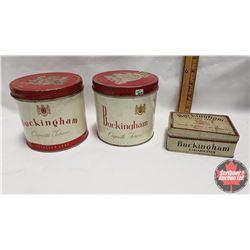 """Collector Combo (3) : Buckingham Cigarette Tobacco Tin (4"""" x 4-1/4"""") & Buckingham Cigarette Tobacco"""
