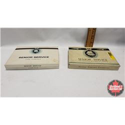 """Collector Combo (2) : Senior Service """"The Perfection of Cigarette Luxury"""" Tin (4-1/2"""" x 5-3/4"""" x 3/4"""
