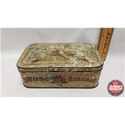 "Rose Quesnel Natural Flavor Tobacco Tin (2"" x 6-1/2"" x 4"")"