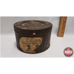 "Rose Quesnel Tobacco Tin (Ashtray Lid)  (3"" x 5-1/4"")"