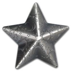 2018 Palau 1 oz Silver Antique Silver Twinkling Star (Abrasions)