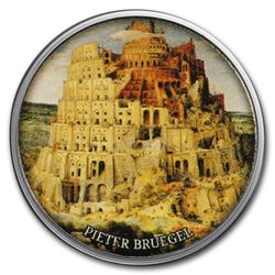 2017 Cameroon Silver European Painting (The Tower of Babel)