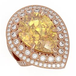 2.0 ctw Black Diamond Ring 14K Rose Gold