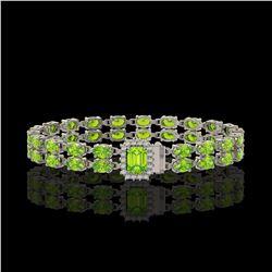 19.88 ctw Ruby & Diamond Earrings 14K White Gold