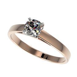 1.0 ctw Orange Sapphire & Diamond Ring 18K White Gold