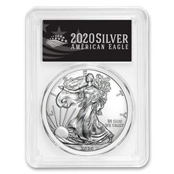 2020 Silver American Eagle MS-70 PCGS (FirstStrike®\, Black Label)