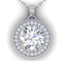 5.66 ctw Aquamarine & Diamond Necklace 14K Yellow Gold