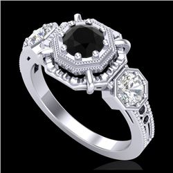 1.40 ctw H-SI/I Diamond Solitaire Halo Ring 10K White Gold
