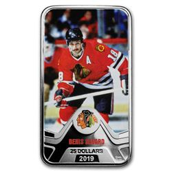 2019 Canada 1.5 oz Silver $25 Chicago Blackhawks: Denis Savard