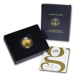 2007-W 1/4 oz Burnished Gold American Eagle (w/Box & COA)