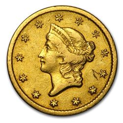 1851-O $1 Liberty Head Gold XF