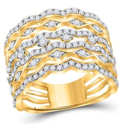 14kt Yellow Gold Princess Diamond Bridal Wedding Engagement Ring Band Set 2.00 Cttw