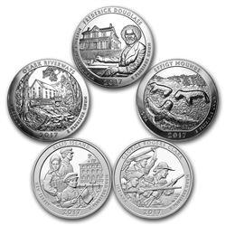 2017 5-Coin 5 oz Silver ATB Set (America the Beautiful)
