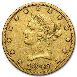 1847-O $10 Liberty Gold Eagle VF