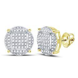 10kt Yellow Gold Round Diamond Bolo Bracelet 1.00 Cttw