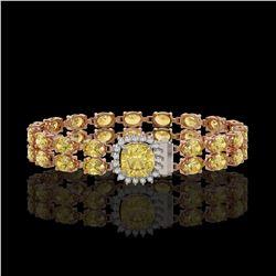 13.88 ctw Citrine & Diamond Bracelet 14K Rose Gold
